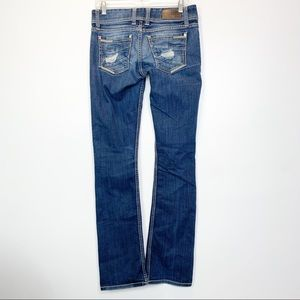 BKE Stella | Destroyed Low Rise Boot Cut